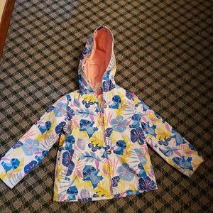 Lilo and Stitch Rain Jacket Girls 4 Disney